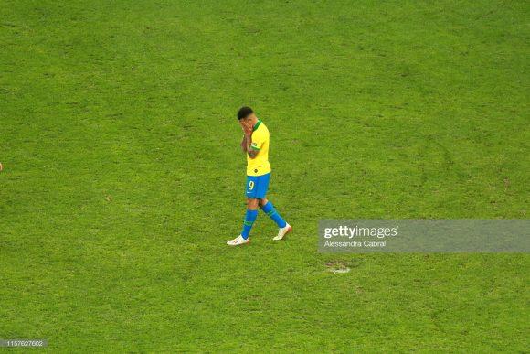 Gabriel Jesus está há exatos 607 minutos sem marcar gols pela Seleção Brasileira, considerando somente jogos por torneios oficiais.