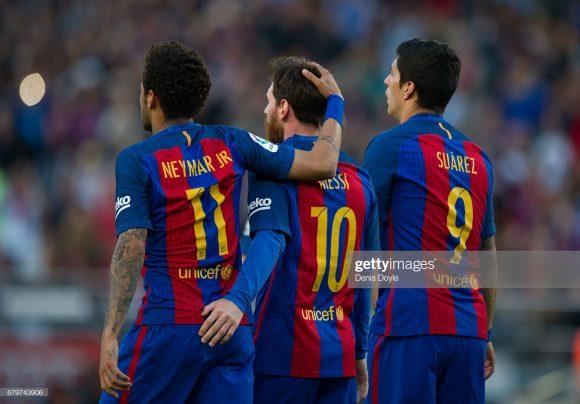 Messi, Suárez e Neymar formaram um dos melhores trios de ataque da história. No geral, eles marcaram 364 gols em três temporadas atuando juntos no Barça.