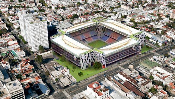 Acima, temos a imagem do projeto do novo estádio do San Lorenzo, que será construído no mesmo local do antigo Gasômetro.