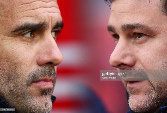 Este será o 17ª embate entre os técnico Pep Guardiola e Mauricio Pochettino, sendo que o treinador espanhol soma 10 vitórias contra apenas três do argentino.