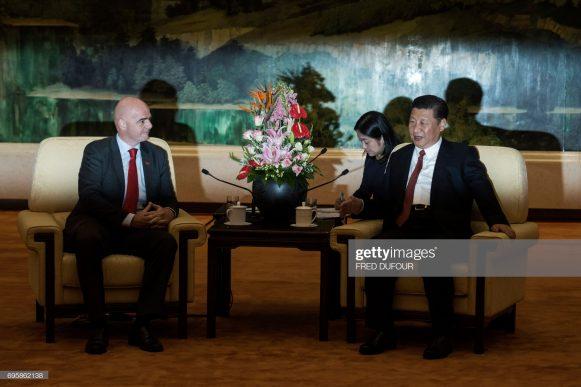 Em reunião com o presidente da FIFA, Gianni Infantino, o presidente chinês, Xi Jinping, afirmou que o seu projeto é tornar a China uma das grandes potências do futebol mundial até 2050.
