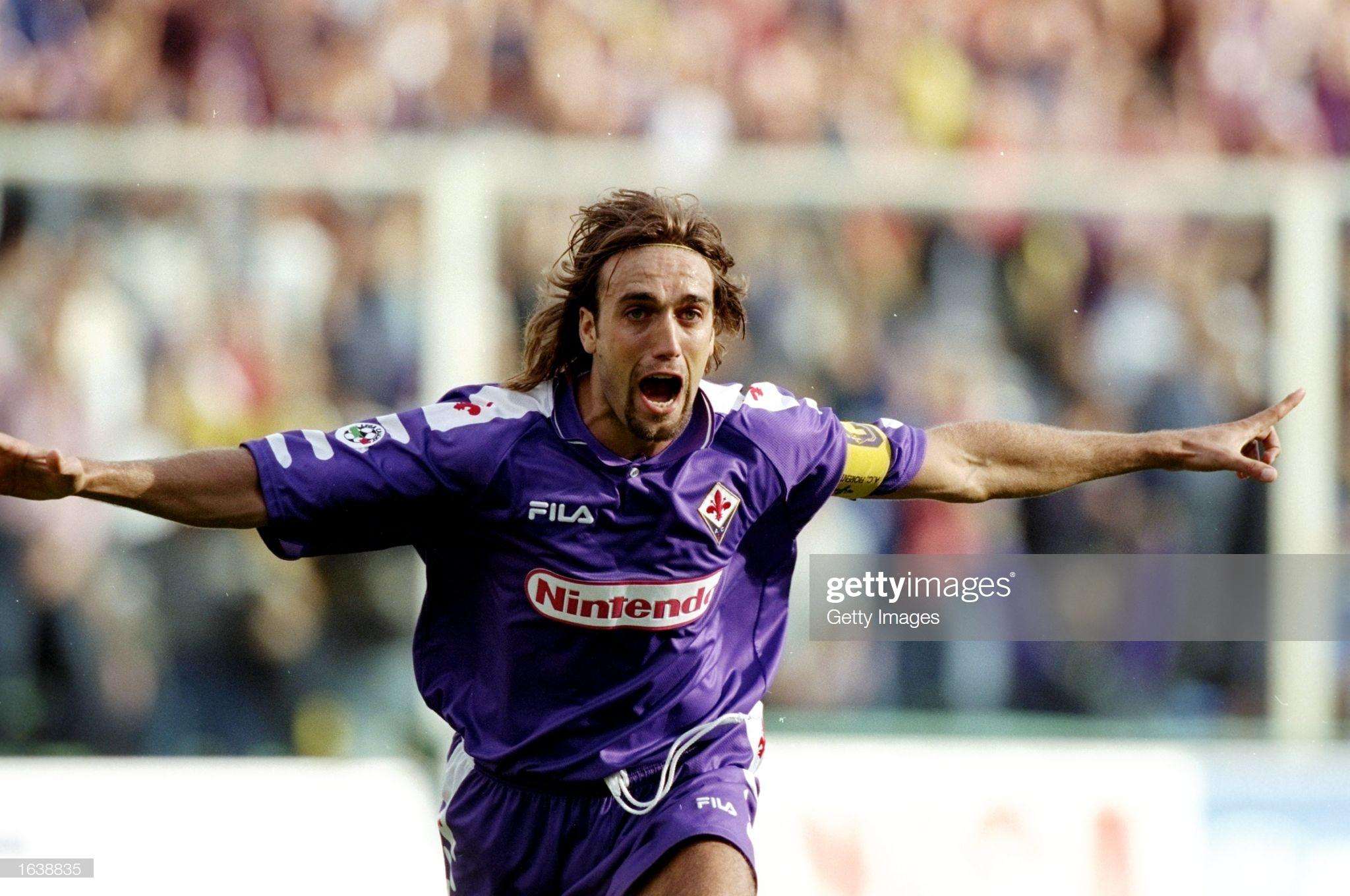 Com 202 gols marcados defendendo a Fiorentina,o argentino Gabriel Batistuta continua sendo o maior artilheiro do clube na história.