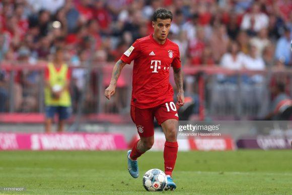 Na partida que marcou a estreia de Philippe Coutinho pelo Bayern, o time bávaro goleou o Mainz 05, por 6 a 1. Todavia, o novo camisa 10 da equipe alemã não balançou as redes.
