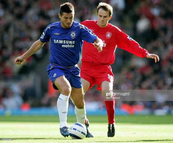 O Liverpool foi o adversário mais vezes enfrentado por Frank Lampard, na época em que ele ainda era atleta profissional. Ne geral, o eterno camisa 8 do Chelsea encarou os Reds em 45 oportunidades, somando 21 vitórias, 9 empates e 17 derrotas.