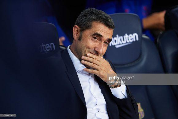 No comando do Barça desde 2017, Ernesto Valverde acumula o montante de 84 vitórias, 28 empates e 14 derrotas em 126 jogos à frente da equipe, registrando assim, 74% de aproveitamento.