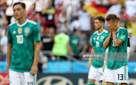 A vexatória eliminação da Alemanha, ainda na fase de grupos do Mundial de 2018, fez com que a Die Mannschaft despencasse no ranking da FIFA. Atualmente, os alemães ocupam o 15º posto do ranking.