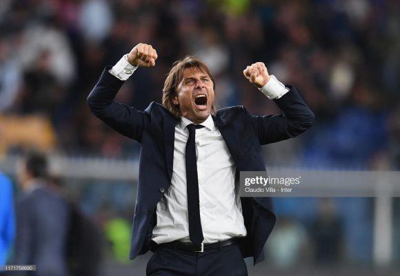 O desempenho de Antonio Conte na Champions League não é bom. Em 24 jogos pelo torneio europeu, as equipes comandadas por ele somaram apenas nove vitórias.
