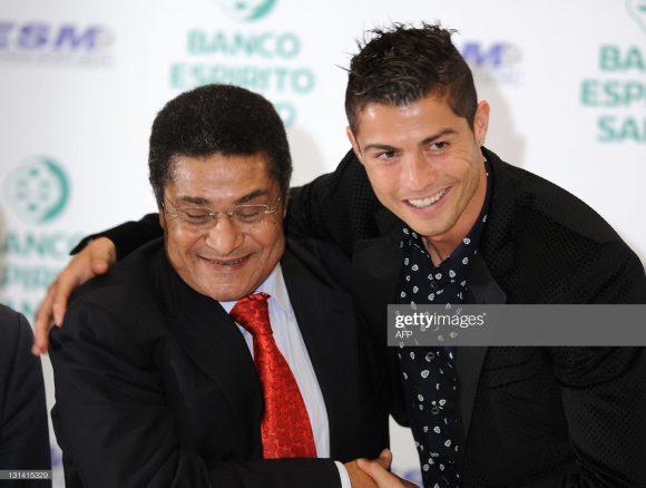 Eusébio e Cristiano Ronaldo, as duas maiores lendas do futebol português.