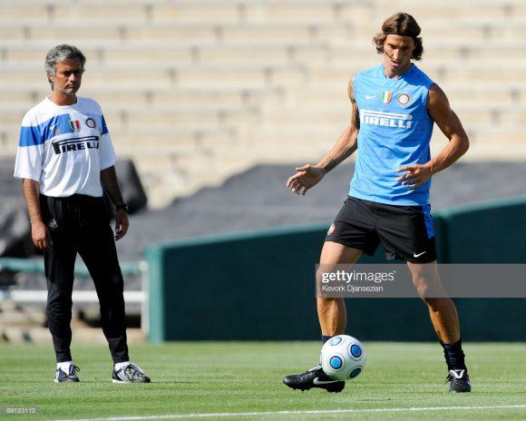 A amizade de José Mourinho e Zlatan Ibrahimovic nasceu quando ambos trabalharam juntos na equipe italiana em 2008.