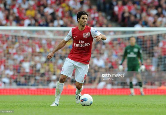 O Arsenal foi o último clube de Mikel Arteta como atleta profissional. O eterno camisa 8 camisa defendeu os Gunners em 150 oportunidades, das quais marcou 16 gols e deu 11 assistências.
