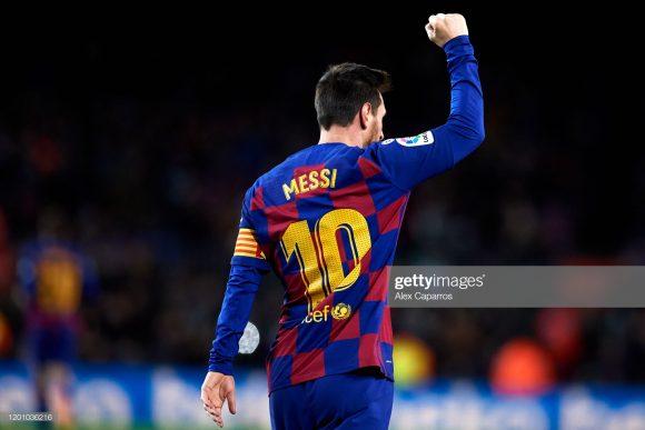 O craque Lionel Messi continua liderando a artilharia da LaLiga com 14 gols marcados.