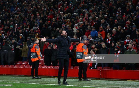 Esta foi a primeira visita de Diego Simeone ao Anfield. O argentino nunca esteve no estádio do Liverpool nem mesmo quando era atleta profisssional.