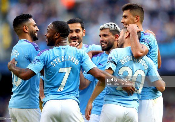 O Manchester City é dono do melhor ataque da Premier League com 68 gols em 27 partidas, atingindo uma média de 2,52 gols por jogo.