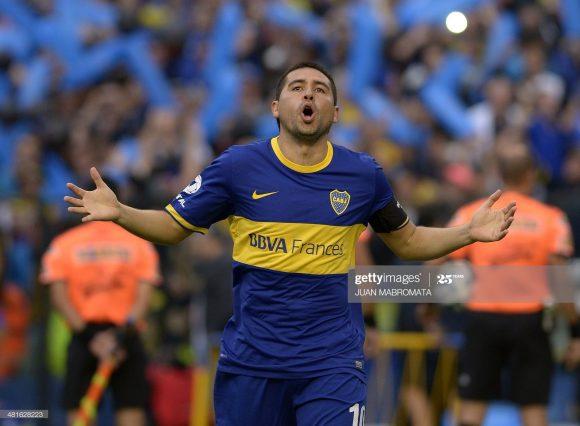 A última partida de Riquelme pelo Boca Juniors deu-se em 2014. O craque marcou 38 gols em 151 jogos pelo conjunto azul e amarelo.