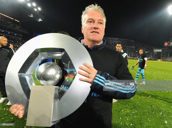 O último título francês conquistado pelo Olympique Marseille, deu-se na temporada 2009/10, época em que a equipe era comandada por Didier Deschamps (foto).