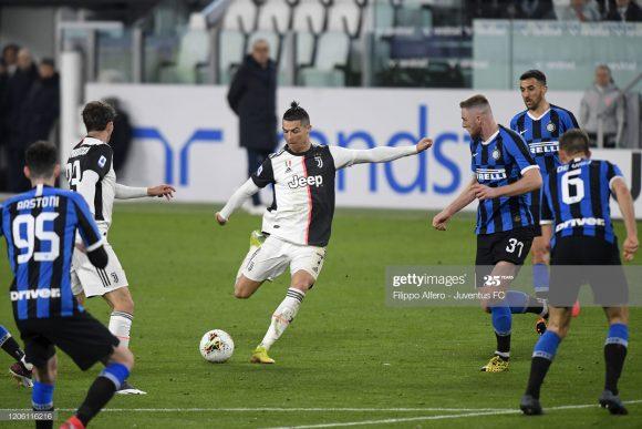 A última aparição da Juventus na temporada, deu-se no dia 08 de março, quando os bianconeros bateram a Inter por 2 a 1 em Turim.