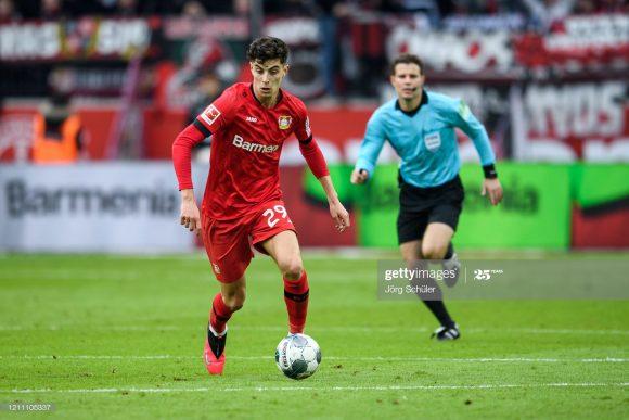Autor de seis gols nos últimos quatro jogos da Bundesliga, o jovem atacante Kai Havertz (20 anos) é o grande destaque do Bayer Leverkusen na temporada.